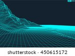 abstract vector wireframe... | Shutterstock .eps vector #450615172