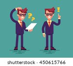 young handsome businessman has...   Shutterstock .eps vector #450615766