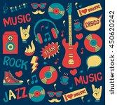 music doodle vector set | Shutterstock .eps vector #450620242