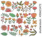 vector pattern with flowers... | Shutterstock .eps vector #450621472