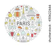 france and paris city concept.... | Shutterstock .eps vector #450622666
