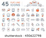 set vector line icons meal and... | Shutterstock .eps vector #450622798
