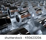 3d rendering roll of steel... | Shutterstock . vector #450623206