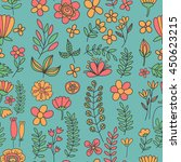 vector pattern with flowers... | Shutterstock .eps vector #450623215
