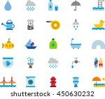 water colored flat icons   Shutterstock .eps vector #450630232