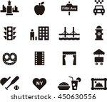 new york icons | Shutterstock .eps vector #450630556