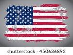 grunge usa flag. | Shutterstock .eps vector #450636892