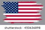 grunge usa flag. | Shutterstock .eps vector #450636898