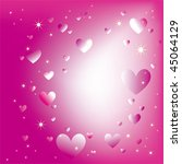abstract sparkling hearts stars ... | Shutterstock .eps vector #45064129