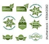 set of colored badges natural...   Shutterstock .eps vector #450642082
