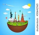 world landmarks concept. vector ...   Shutterstock .eps vector #450642565