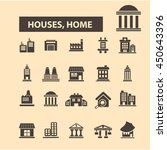 houses  home icons | Shutterstock .eps vector #450643396