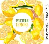 pattern lemons. vector... | Shutterstock .eps vector #450650218