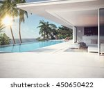 luxury swimming pool and blue... | Shutterstock . vector #450650422