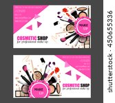 cosmetic shop business card...   Shutterstock .eps vector #450655336