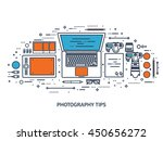 photography equipment with... | Shutterstock .eps vector #450656272