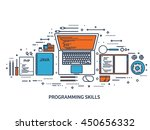 programming coding background... | Shutterstock .eps vector #450656332