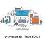 graphic web design illustration.... | Shutterstock .eps vector #450656416