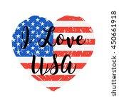 i love usa grunge flag heart.... | Shutterstock .eps vector #450661918