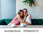 love of mother and daughter.... | Shutterstock . vector #450663472