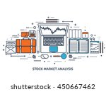stock market analysis finance... | Shutterstock .eps vector #450667462
