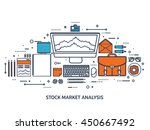 stock market analysis finance... | Shutterstock .eps vector #450667492