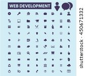 web development icons | Shutterstock .eps vector #450671332
