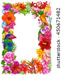 tropical frame  certificate or... | Shutterstock . vector #450671482