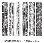 tire tracks. vector... | Shutterstock .eps vector #450672112