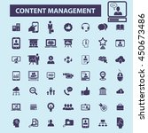 content management icons | Shutterstock .eps vector #450673486