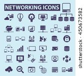 networking icons | Shutterstock .eps vector #450673582