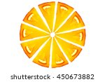orange cake with isolated white ... | Shutterstock . vector #450673882