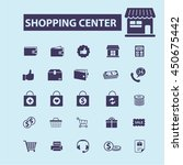 shopping center icons | Shutterstock .eps vector #450675442