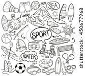 sea sport beach summer water... | Shutterstock .eps vector #450677968