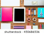 education  school supplies  art ... | Shutterstock . vector #450686536