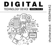 modern digital technology pack. ... | Shutterstock .eps vector #450694642