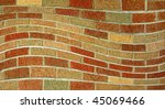 A Wavy Brick Wall Pattern...