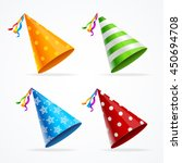 Party Hat Set Isolated With...
