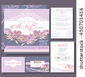 wedding invitation with simple... | Shutterstock .eps vector #450701416