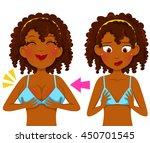 dark skinned girl before and... | Shutterstock . vector #450701545