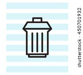 trashcan icon | Shutterstock .eps vector #450701932