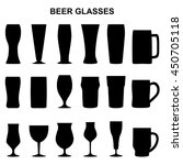 set of silhouettes of beer... | Shutterstock .eps vector #450705118