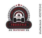 freestyle  skate park.  city of ... | Shutterstock .eps vector #450705142