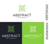 vector geometric logo design.... | Shutterstock .eps vector #450724162