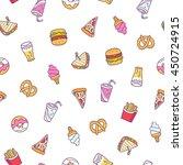 fast food illustrations vector... | Shutterstock .eps vector #450724915