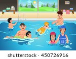 a vector illustration of kids... | Shutterstock .eps vector #450726916