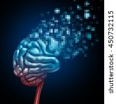 digital brain and mind upload... | Shutterstock . vector #450732115