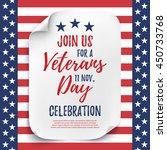 veterans day party celebration...   Shutterstock .eps vector #450733768