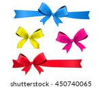 set of multicolored bows with...   Shutterstock .eps vector #450740065