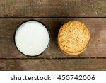 biscuit cookies with chocolate... | Shutterstock . vector #450742006
